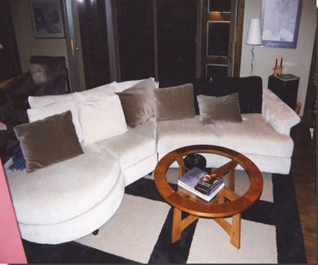The family room is home to a wonderful lounging sectional with an open end that can gather more guests when needed.